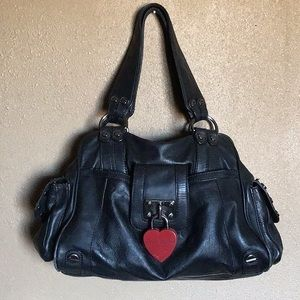 Betsy Johnson Purse with Red Heart Lock